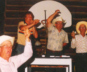 3 Generations of Auctioneers - From Left to Right Marvin Bradeen, Ron Bradeen, Bob Bradeen & Bert Bradeen